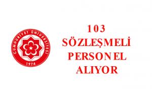 Cumhuriyet Üniversitesi  103 Sözleşmeli Sağlık Personeli Alımı Yapacak