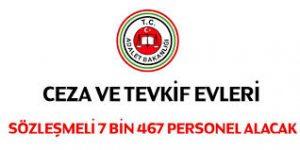Cezaevlerine 7 bin 467 personel alınacak