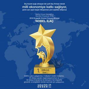 """""""Eczacılık Ürünleri İhracatı""""nın Yıldızı Nobel Oldu"""