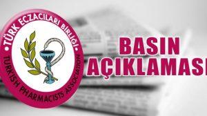 """Türk Eczacılar Birliği : """"Maske  Her yerde Satılamaz"""""""